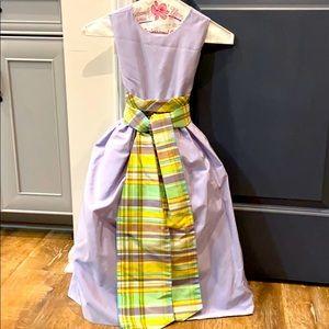 Lilac taffeta formal dress